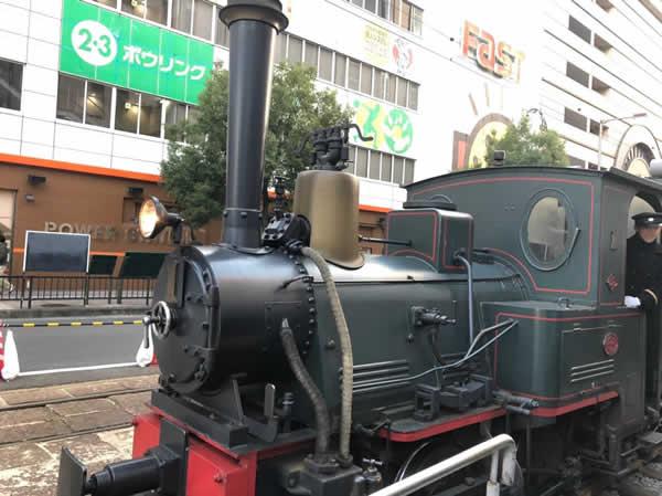 松山の路面電車 坊ちゃん列車