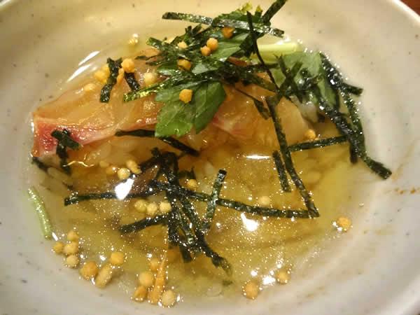 郷土料理 五志喜 愛媛の鯛茶漬け
